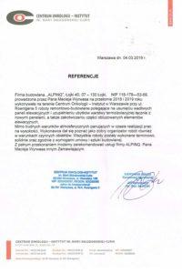 alpinQ - referencje - Centrum Onkologii